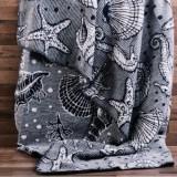 Mintás pamut pléd,takaró 150x200 (kril oceán) Ágynemű, - textil NATURTEX
