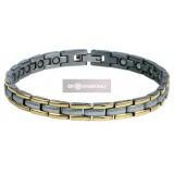 Titán mágneses karkötő (arany-ezüst) -1564 Mágneses termék WELLMED