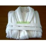 Fehér pamut fürdőköntös - sálgalléros Ágynemű, - textil NATURTEX