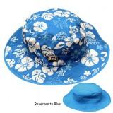 Baby,- Kidz Banz gyermek nyári sapka kifordítható kék - virágos kék Baba termékek BABY BANZ