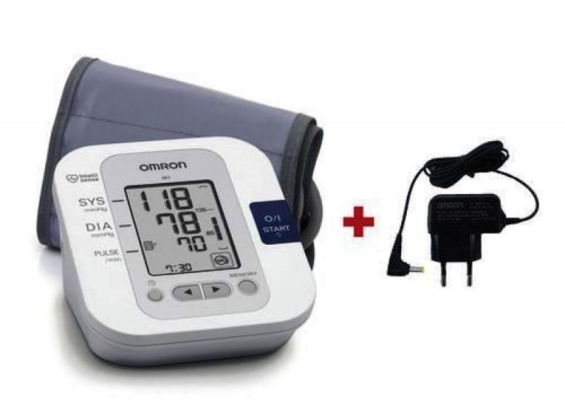 Omron M3 vérnyomásmérő + adapter - Felkaros vérnyomásmérő