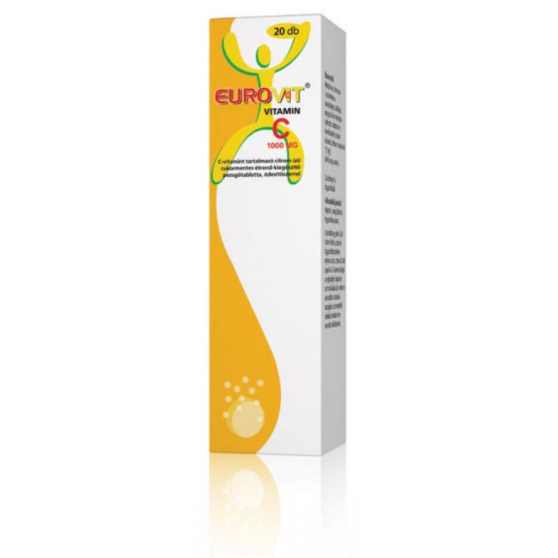 Eurovit C-vitamin 1000mg pezsgőtabletta - 20db