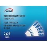 Avital tesztcsík (2x25) Vércukormérő AVITAL