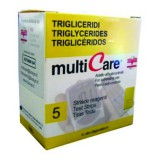 Multicare triglicerid tesztcsík - 5db Vércukormérő MULTICARE