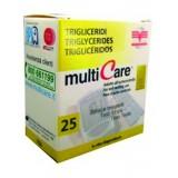 Multicare triglicerid tesztcsík - 25db Vércukormérő MULTICARE