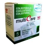Multicare koleszterin tesztcsík - 5db Vércukormérő MULTICARE